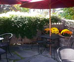 Dine on our private patio